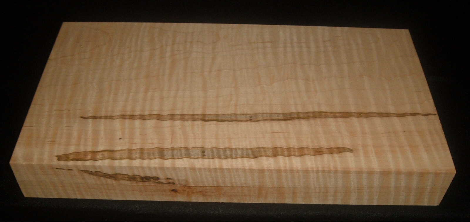 AMS-1634, 1-7/8x5-1/2x19-1/2, Curly Tiger Ambrosia Wormy Maple