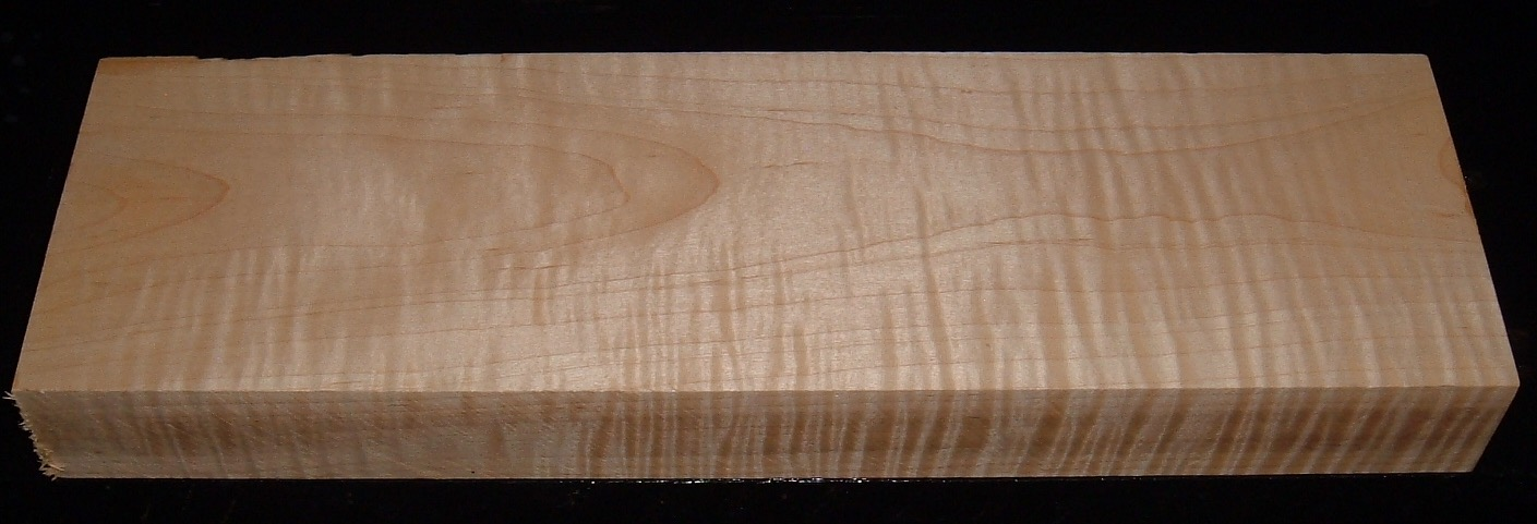 S-2187, 1-13/16x5x16, Curly Tiger Maple