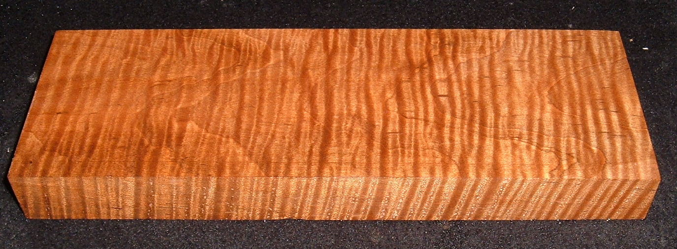 RMS-2759, 1-1/4x3-7/8x11-1/2, Roasted Torrefied, Curly Tiger Maple