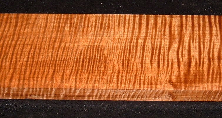 QRMS-3007, 7/8x4-1/8x17, Quartersawn Roasted Torrefied, Curly Tiger Maple