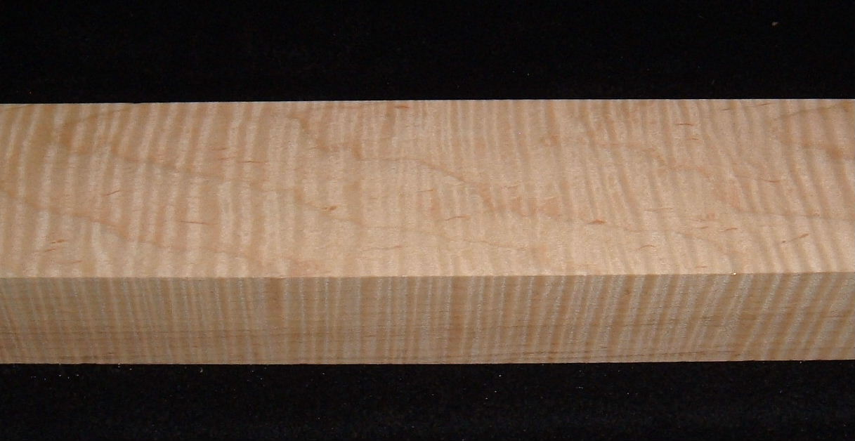 MS-3017, 1-15/16x2-3/4x18, Figured Curly Maple