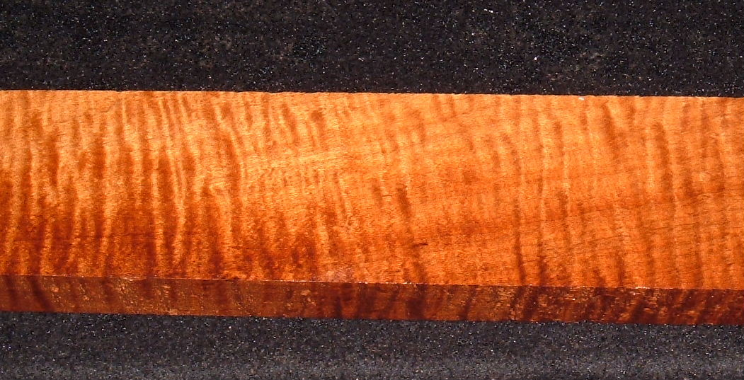 RHMS-3022, 1x2-7/8x23, Roasted Torrefied, Curly Tiger Hard Maple