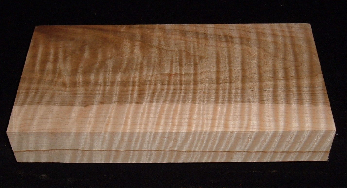 HWS-3036n, 1-7/8x5-7/8x12,  Heartwood/Sapwood Blend, Curly Tiger Maple