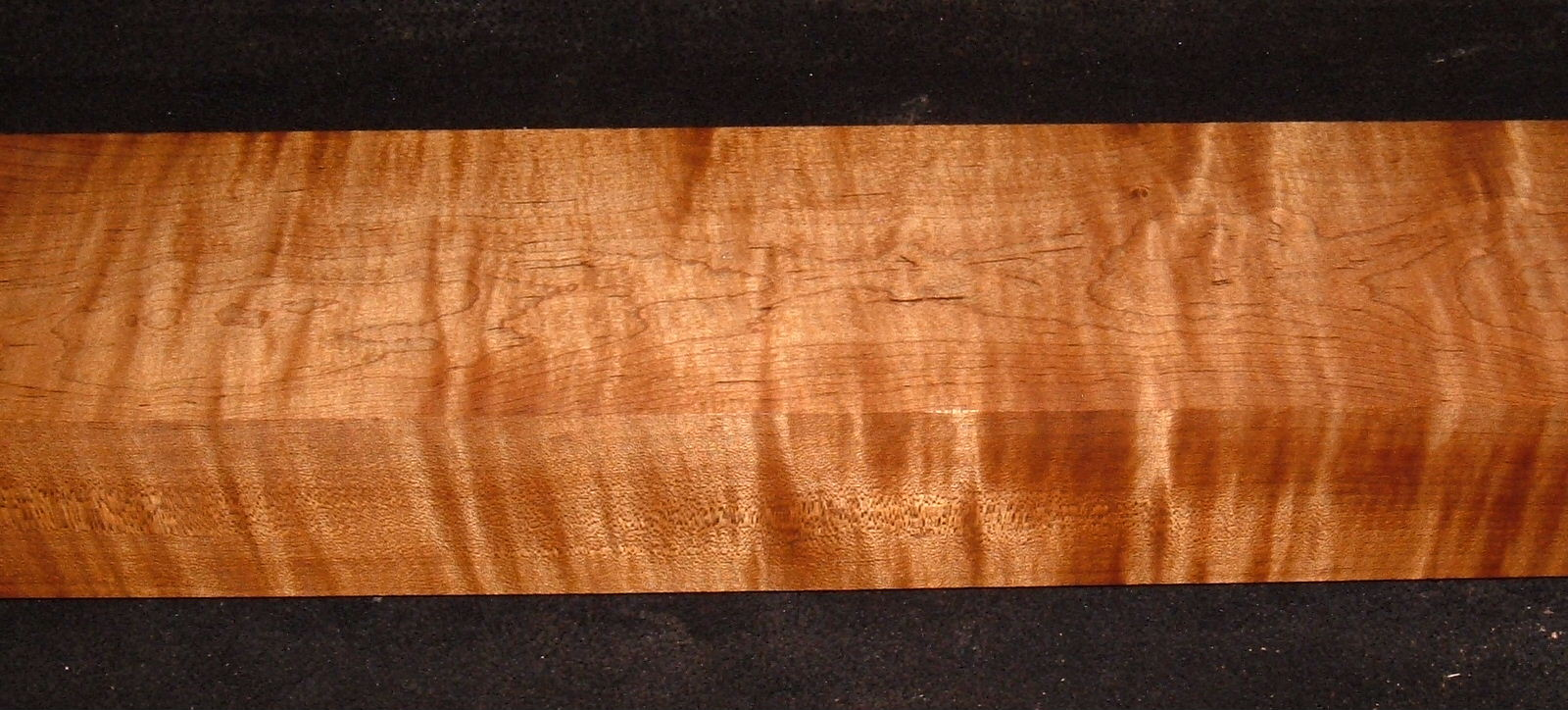 RMS-3106, 2-1/2x3-7/8x25+, Roasted Torrefied, Curly Tiger Maple