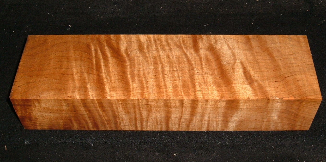 RMS-3122, 2-1/2x3-7/8x13+, Roasted Torrefied, Curly Tiger Maple