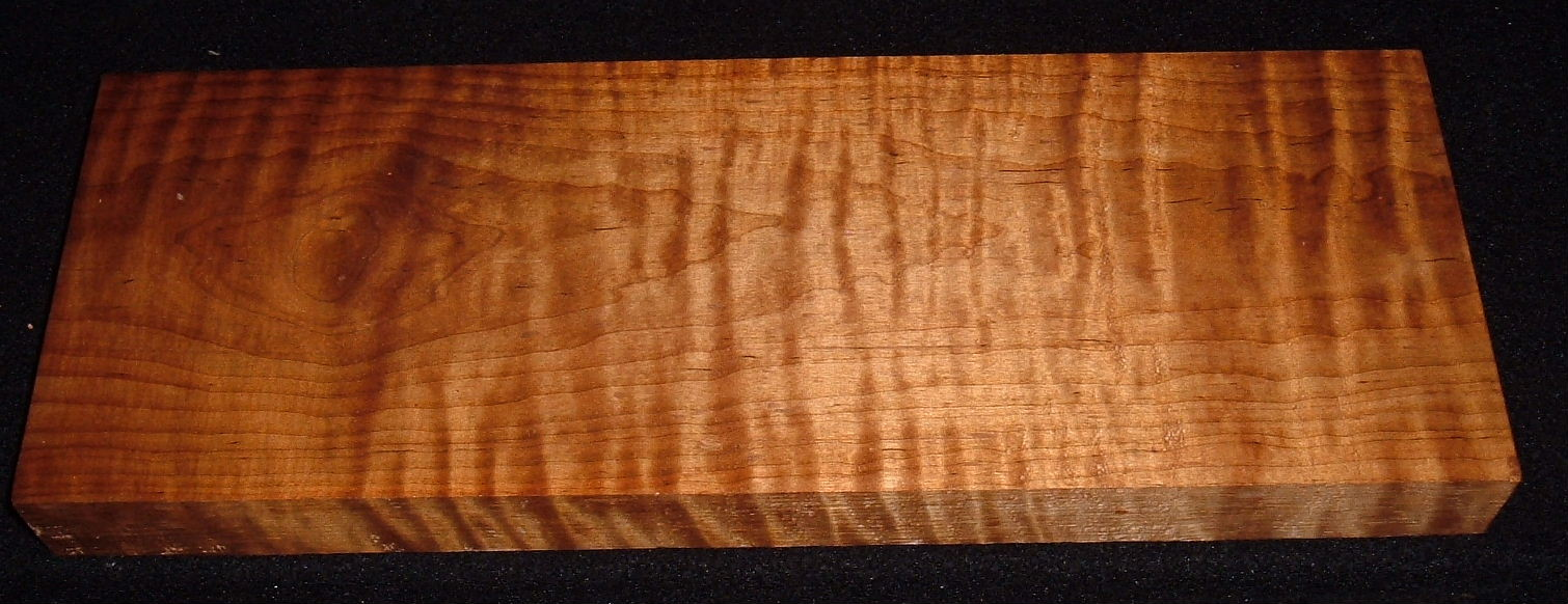 RMS-3151, 1-5/16x5-1/2x15, Roasted Torrefied, Curly Tiger Maple