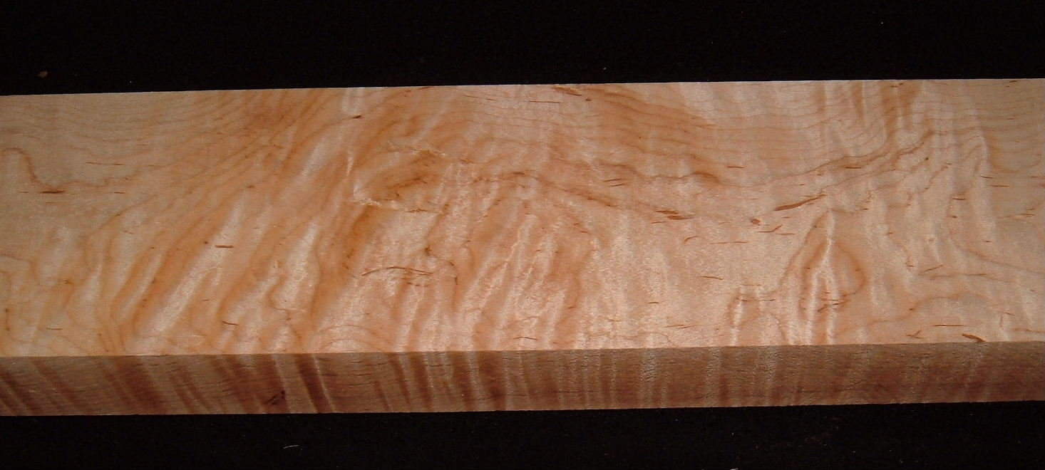 MS-3153, 1-13/16x4-3/4x21, Curly Tiger Maple