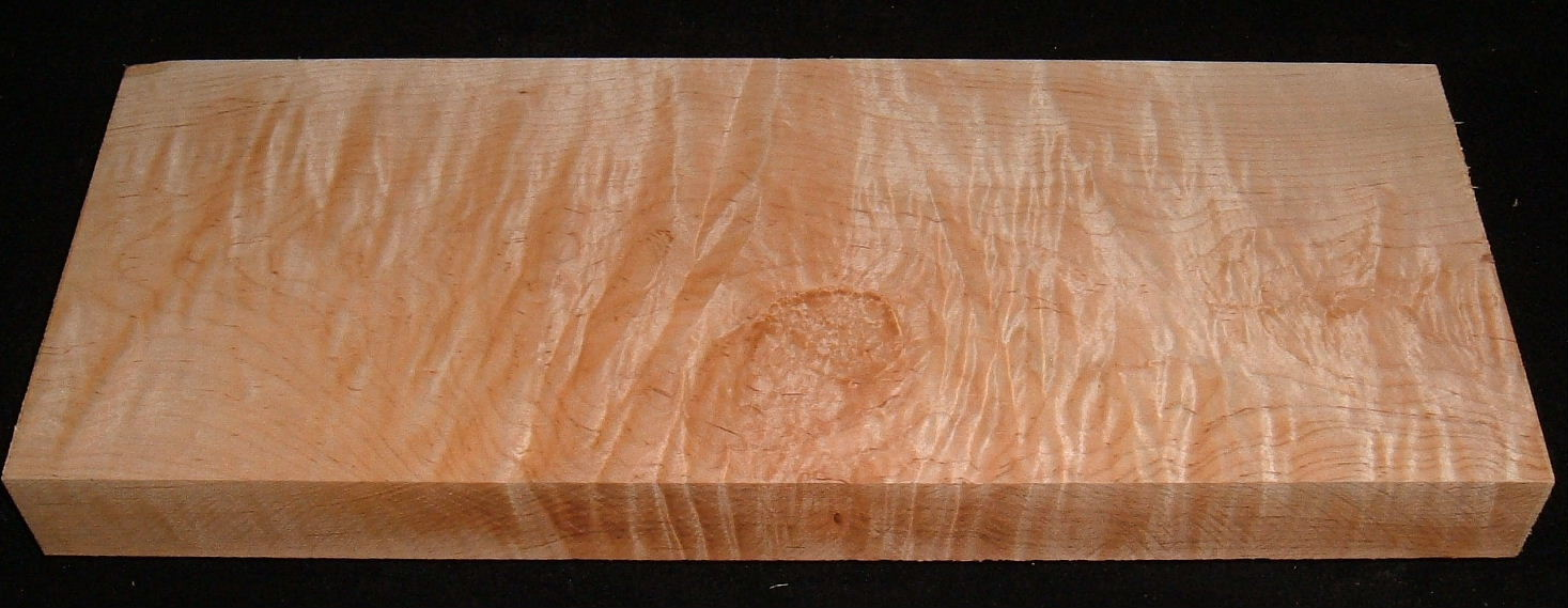 MS-3156, 1-3/4x7-1/4x19, Curly Tiger Maple