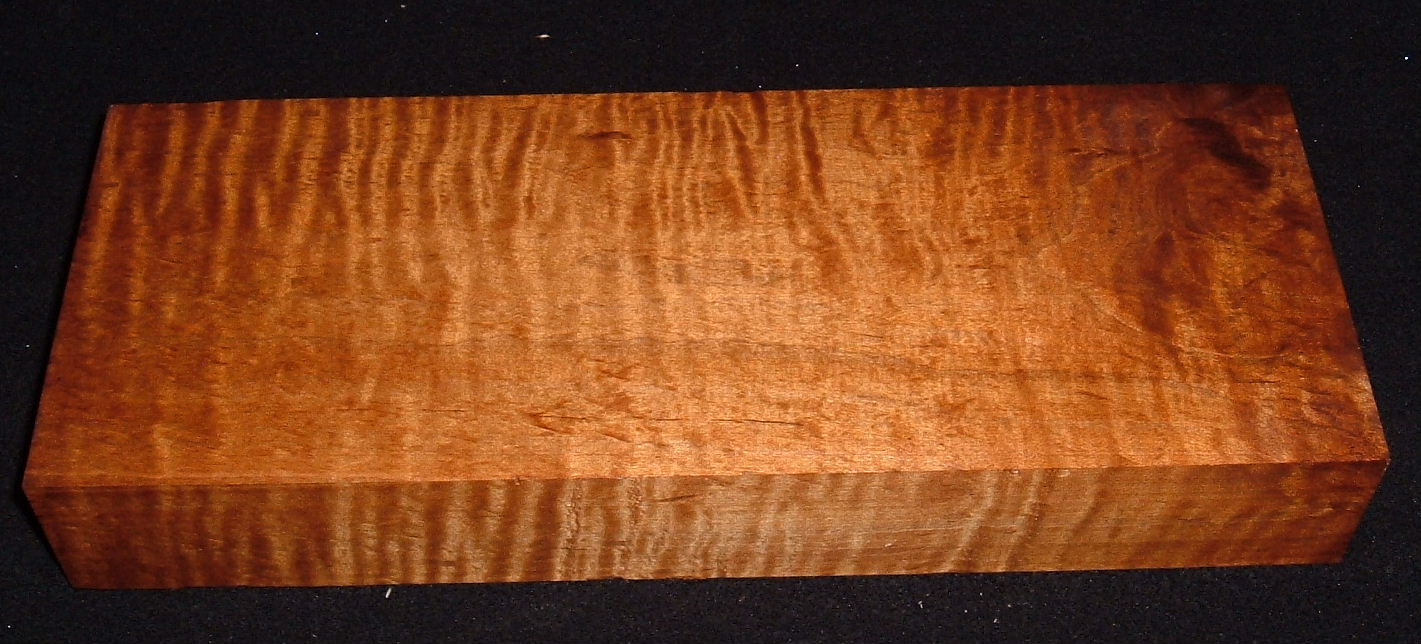 RMS-3169, 2x5-1/8x13, Roasted Torrefied, Curly Tiger Maple