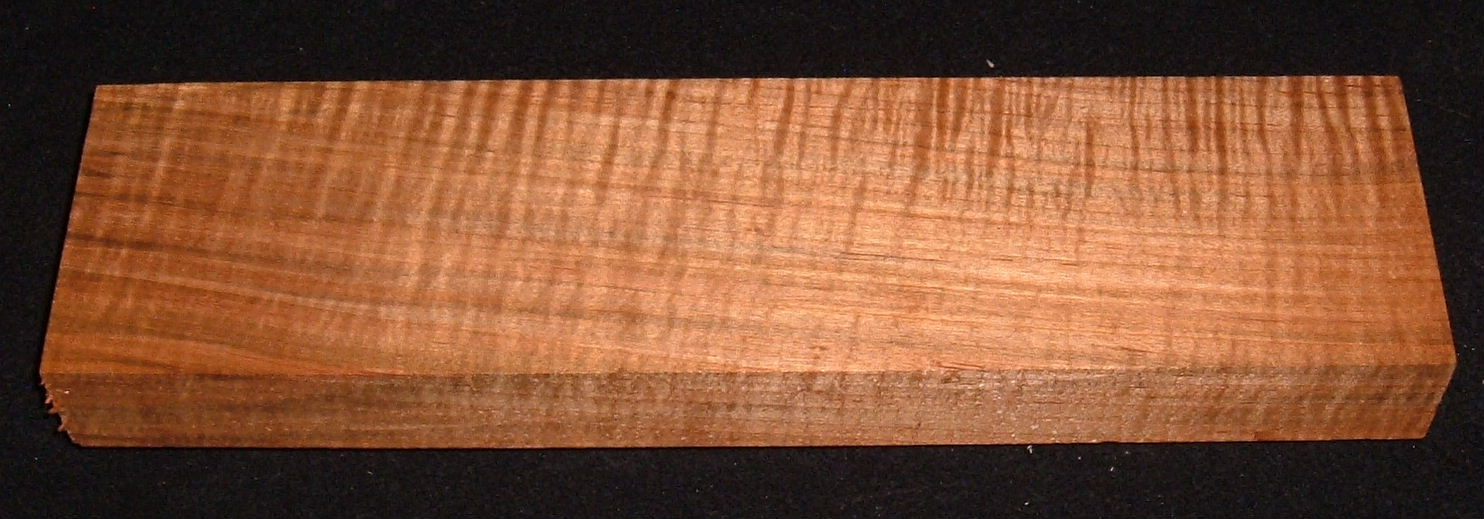 RMS-3178, 1-5/16x4-3/4x13, Roasted Torrefied, Curly Tiger Maple