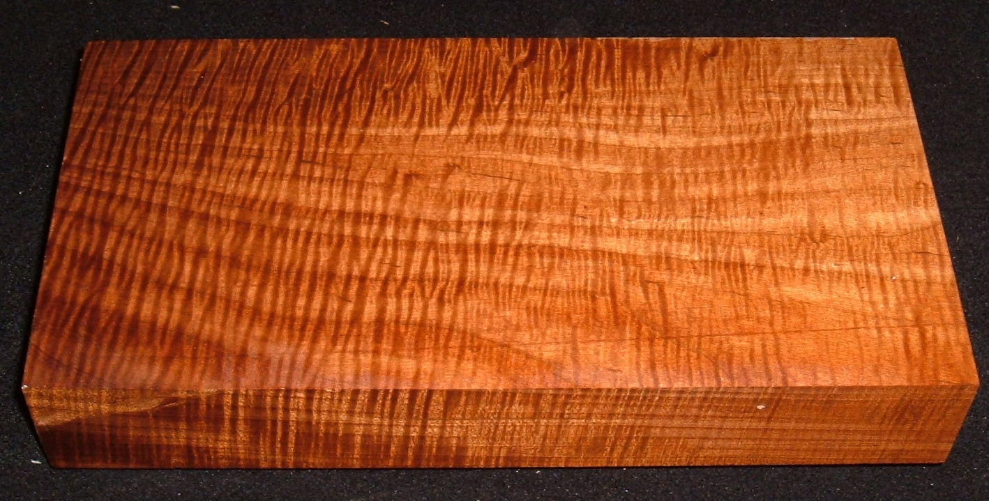 RMS-3180, 1-3/4x5-5/8x11+, Roasted Torrefied, Curly Tiger Maple