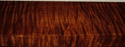 QRM2003-72, 1-1/16x4-1/4x41, Roasted Torrefied, Curly Tiger Quartersawn Maple