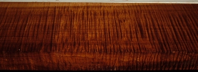 QRM2003-73, +1-1/4x4-1/4x43, Roasted Torrefied, Curly Tiger Quartersawn Maple