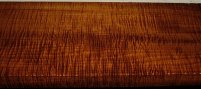 QRM2003-82, 1x5-7/8x38, Roasted Torrefied, Curly Tiger Quartersawn Maple
