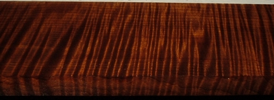 QRM2003-83, 15/16x3-7/8x41, Roasted Torrefied, Curly Tiger Quartersawn Maple