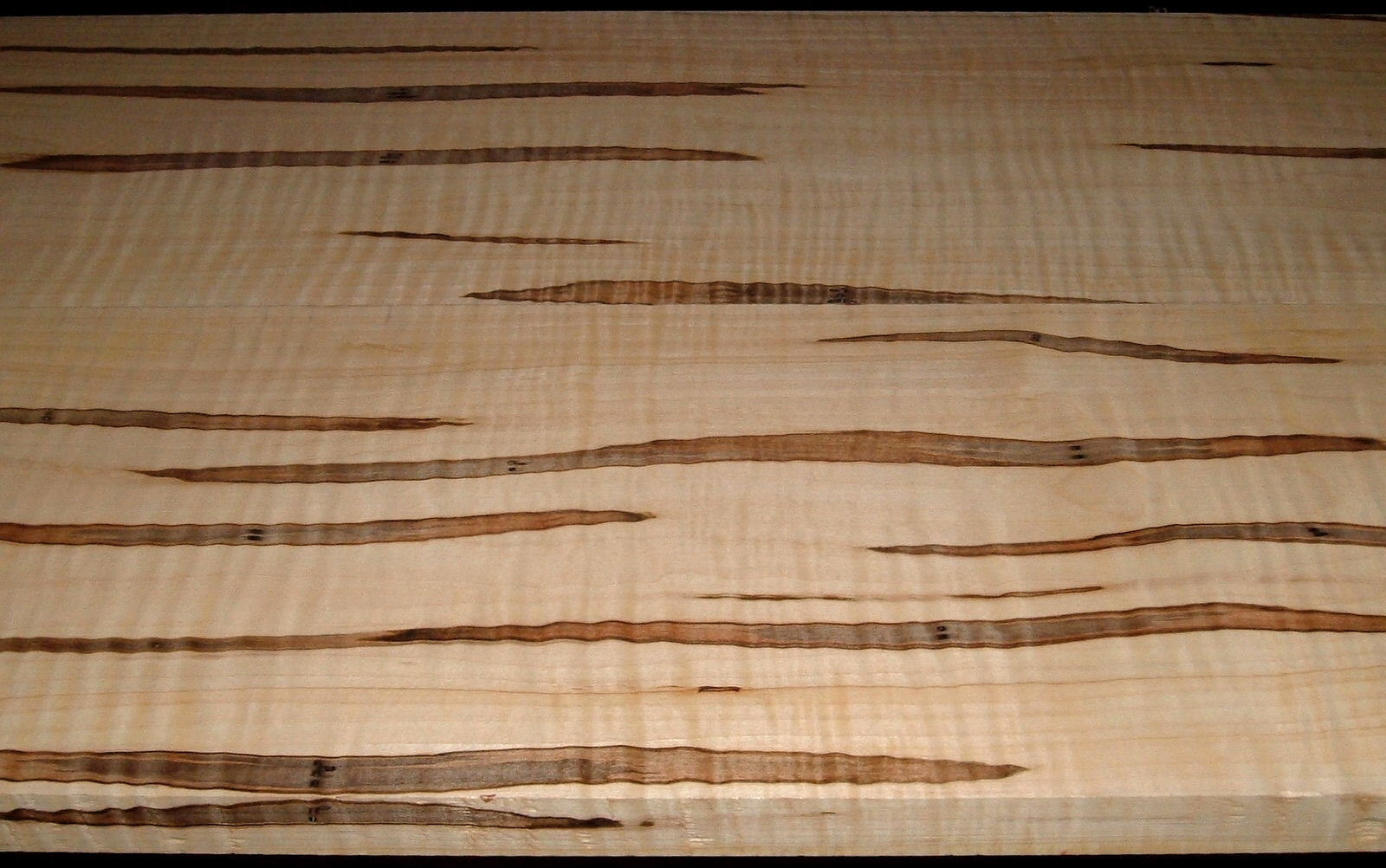 AM2005-79L, 1-1/8x10-1/8x60+ ,1-3/16x10-1/8x60+, Curly Tiger Ambrosia Wormy Maple, Cut from the same plank