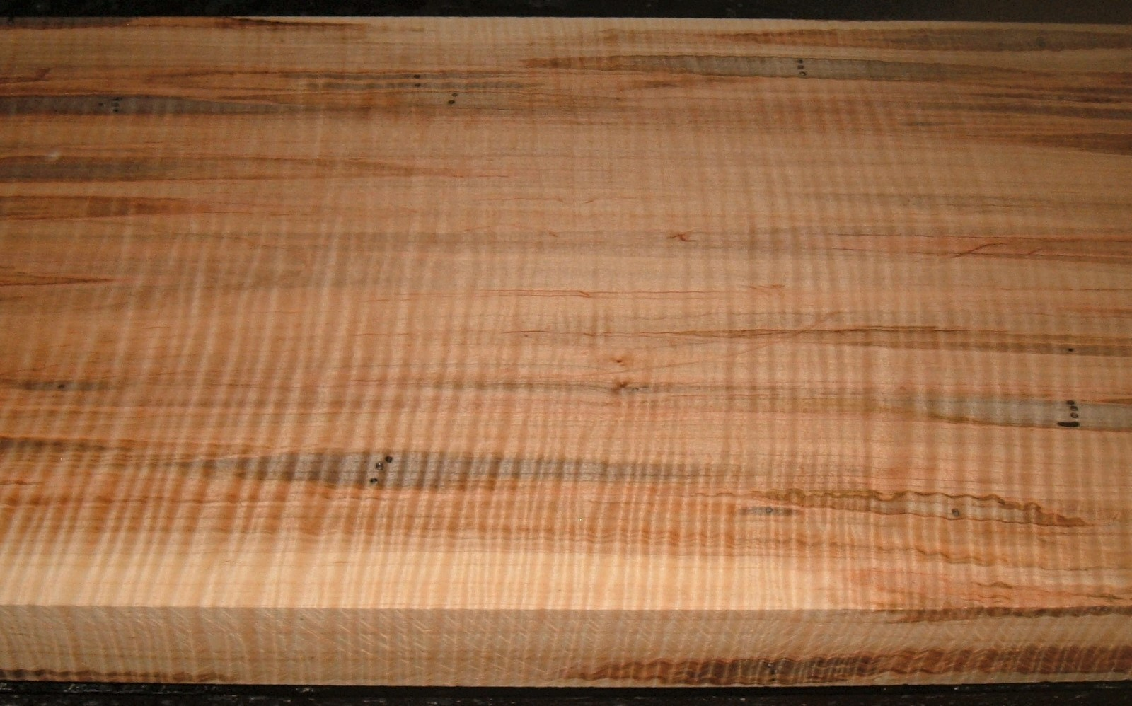 AM2103-30JJ, 1-15/16x11-3/4x50, Curly Tiger Ambrosia Wormy Maple