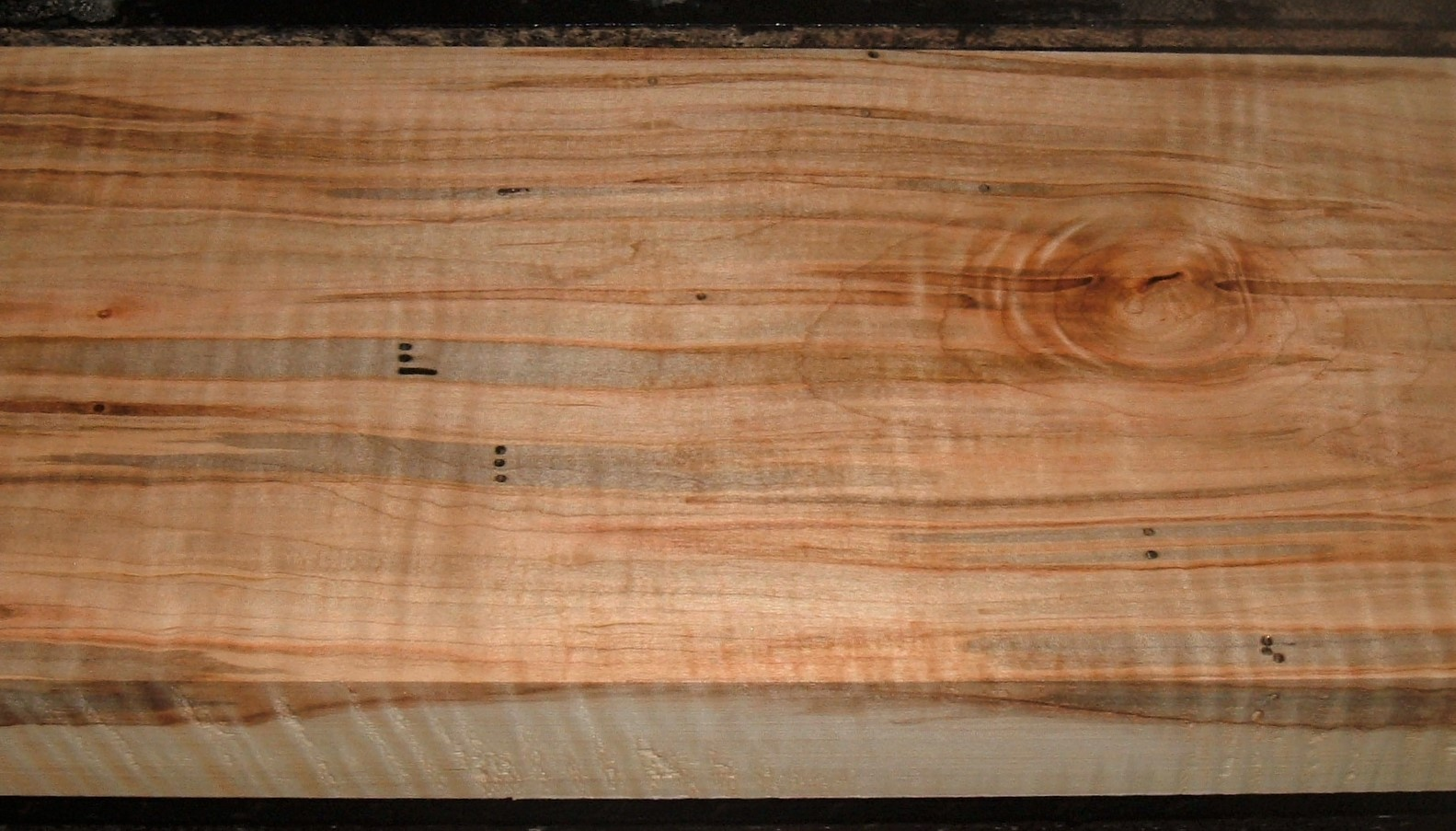 AM2103-33JJ, 1-7/8x6-13/16x45, Curly Tiger Ambrosia Wormy Maple