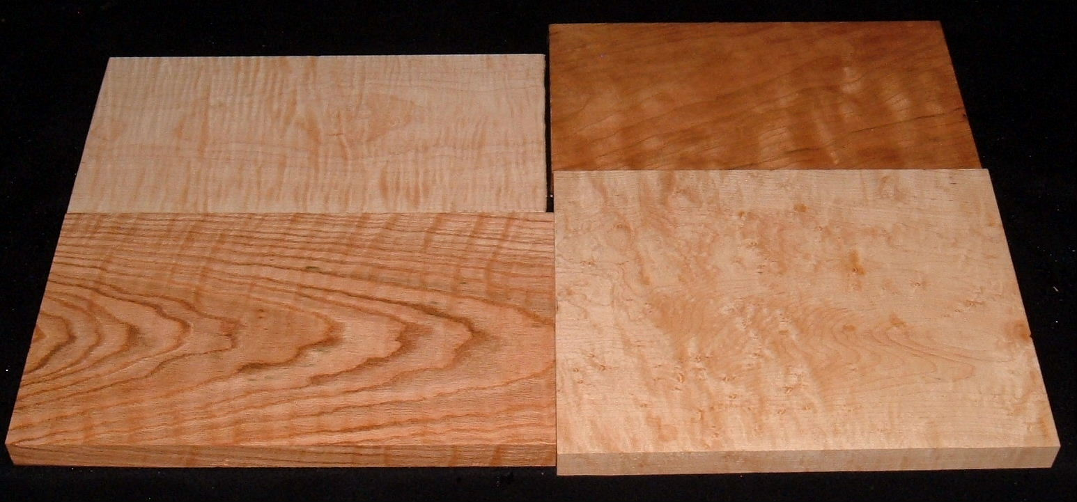 HP-2429, Variety of 4/4 Figured Hardwoods, Lumber Craft Board Hobby Pack