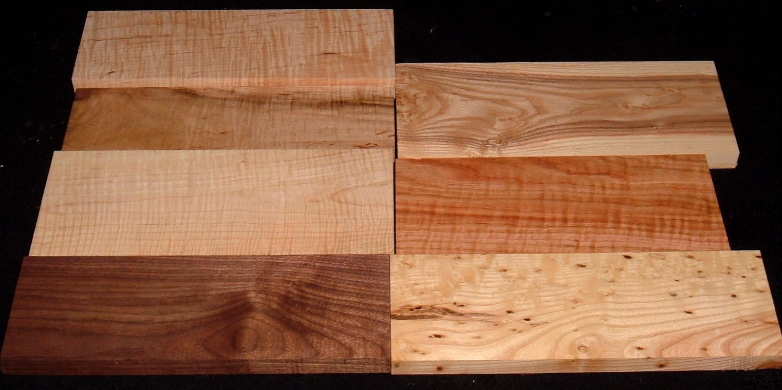 HP-2431, Variety of Figured Hardwoods, Lumber Craft Board Hobby Pack
