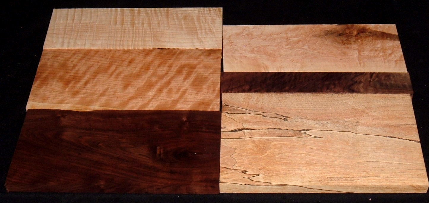 HP-2434, Variety of 4/4 Figured Hardwoods, Lumber Craft Board Hobby Pack