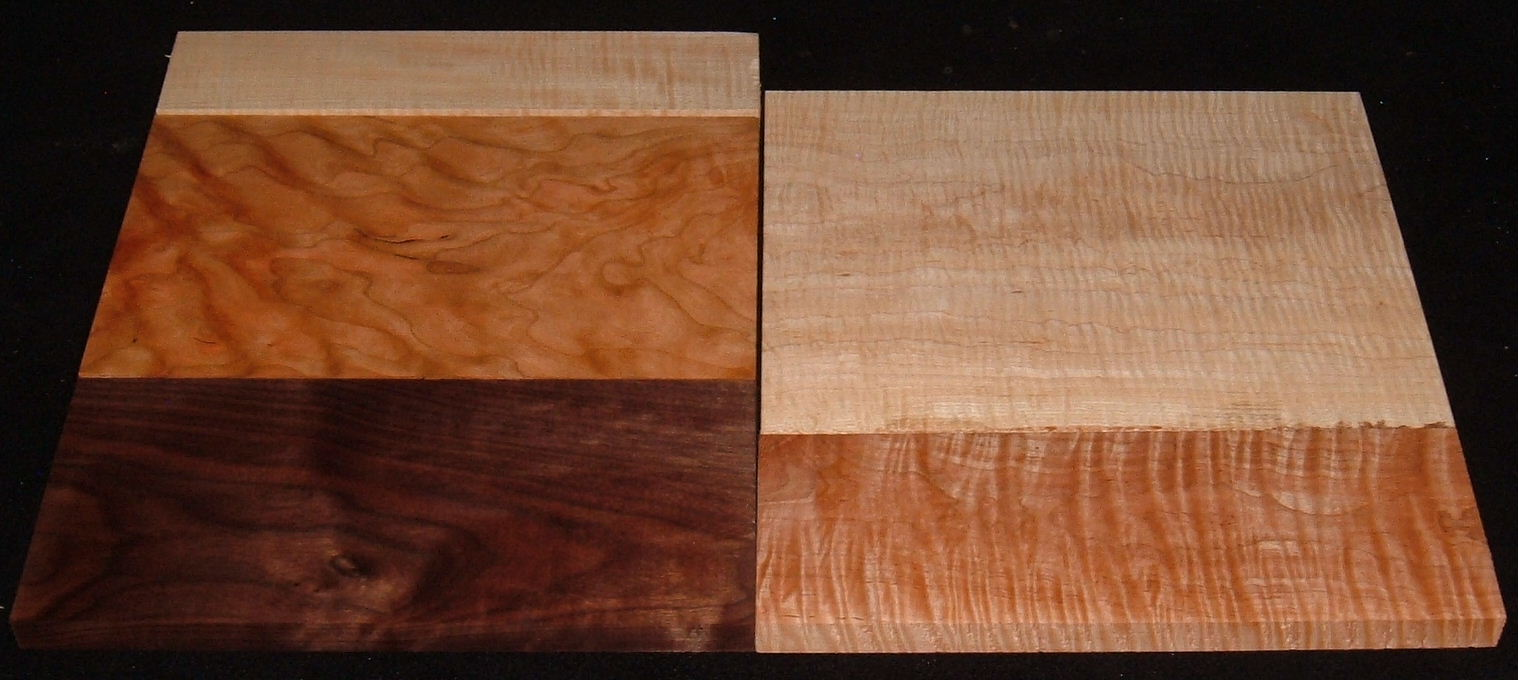 HP-2436, Variety of 4/4 Figured Hardwoods, Lumber Craft Board Hobby Pack