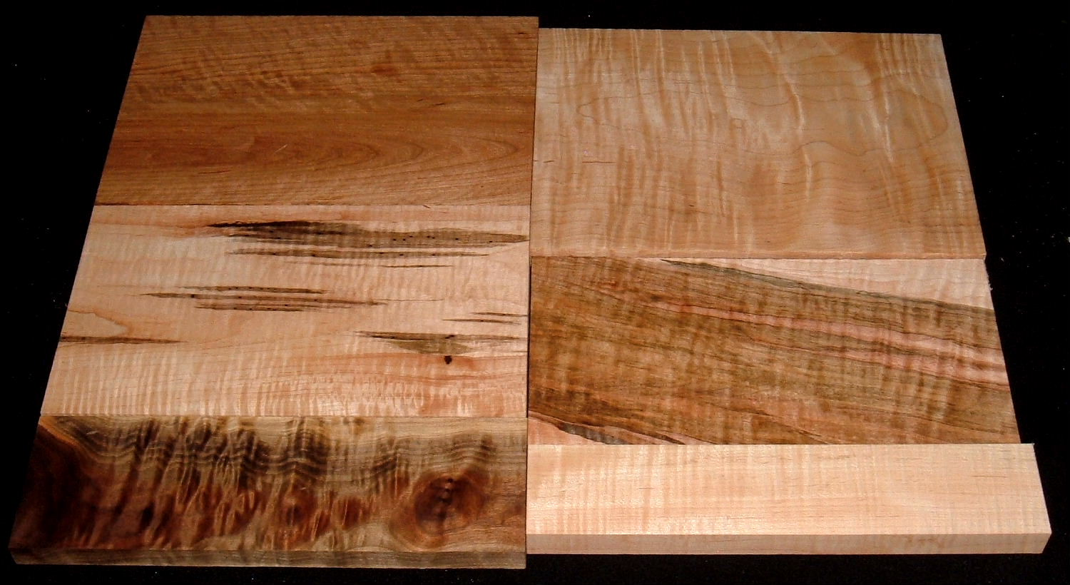 HP-2437, Variety of 4/4 Figured Hardwoods, Lumber Craft Board Hobby Pack