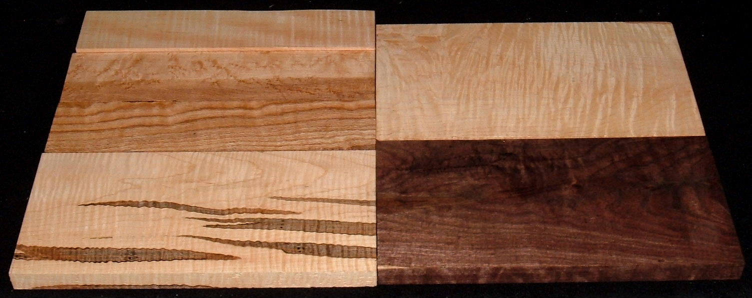 HP-2438, Variety of 4/4 Figured Hardwoods, Lumber Craft Board Hobby Pack