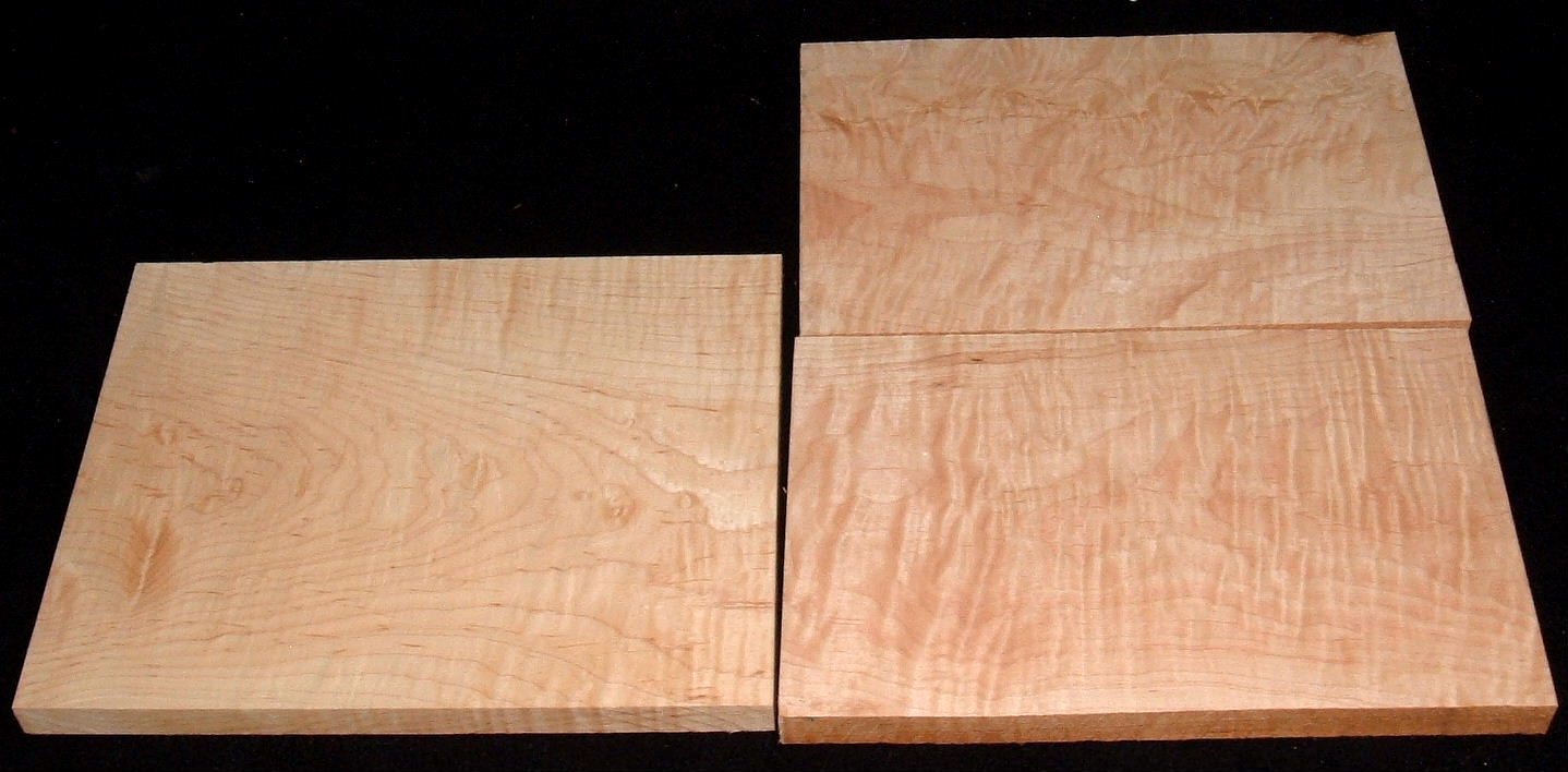 HP-2440, Variety of 4/4 Figured Hardwoods, Lumber Craft Board Hobby Pack
