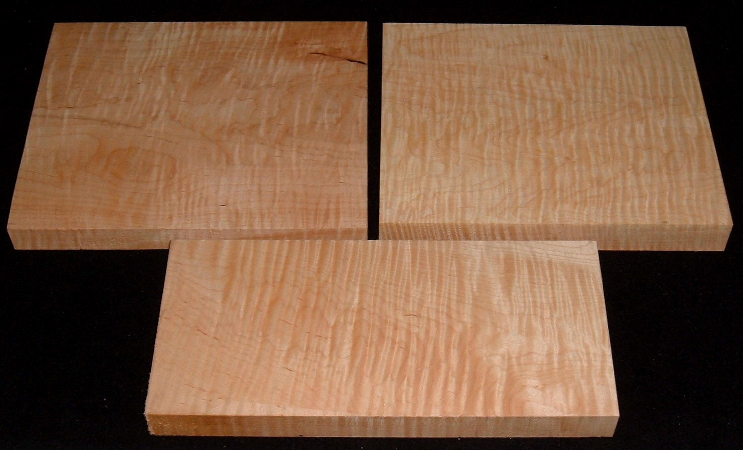 HP-2443, 5/4 Curly Tiger Soft Maple, Lumber Craft Board Hobby Pack