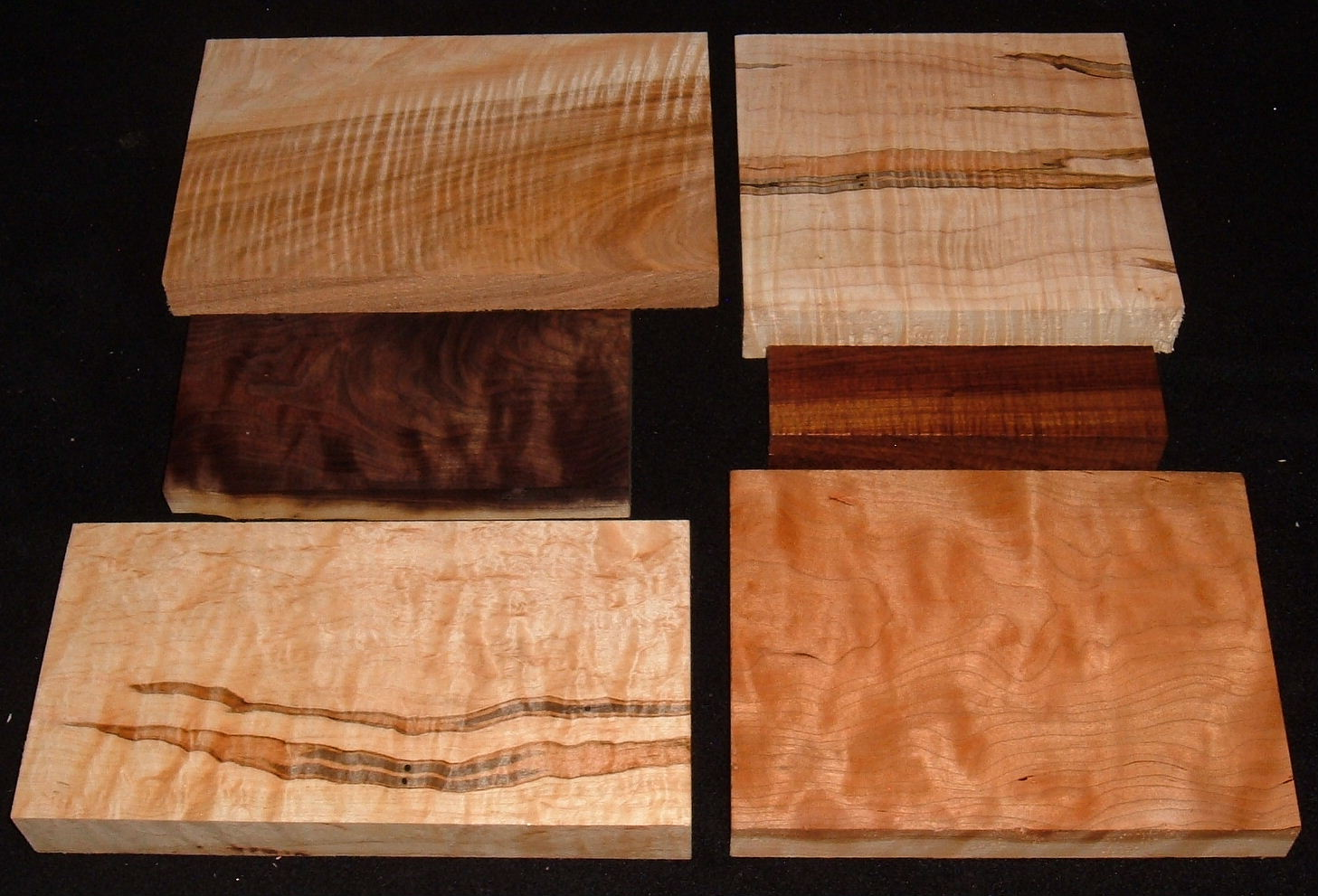 HP-2444, Variety of 4/4 Figured Hardwoods, Lumber Craft Board Hobby Pack
