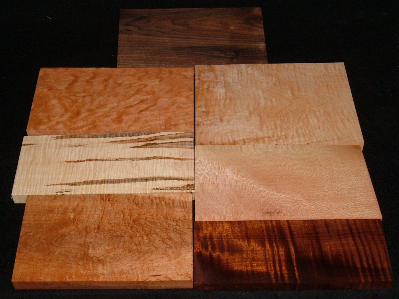 HP-2453, Variety of 4/4 Figured Hardwoods,Lumber Craft Board Hobby Pack