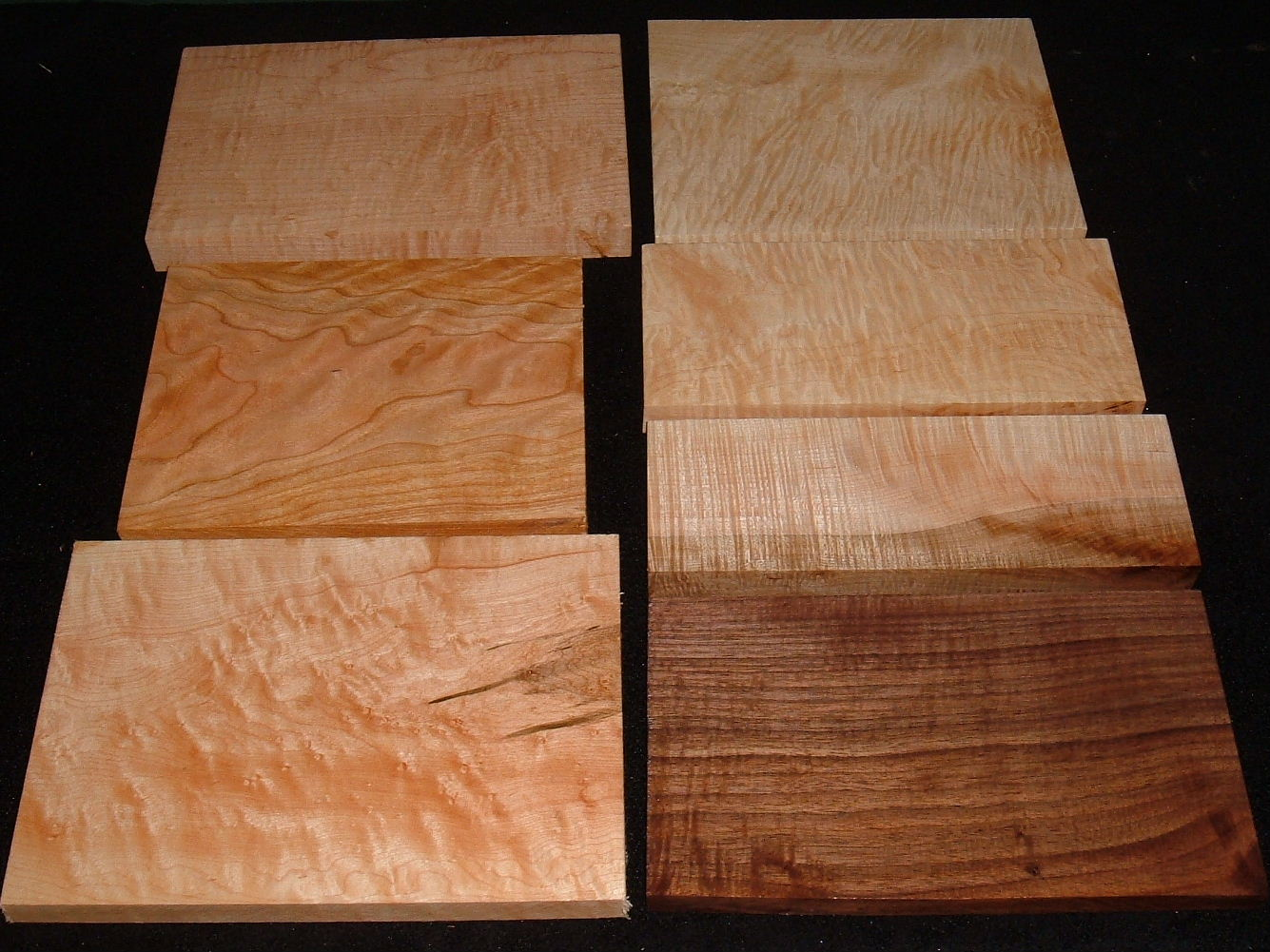 HP-2456, Variety of 4/4 Figured Hardwoods,Lumber Craft Board Hobby Pack