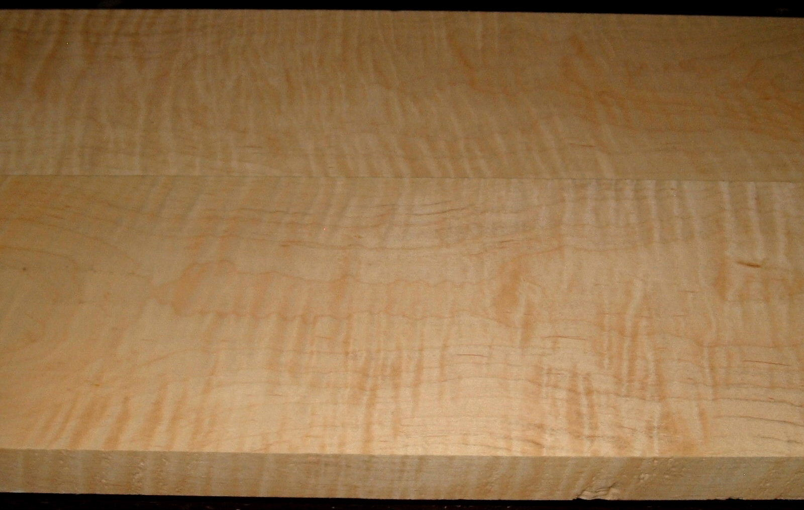 M2004-353, 2 Bd Set, 1-1/4 x6-1/4x45 ,1-1/4 x6-3/4x45, Curly Tiger Maple, Cut from same Plank