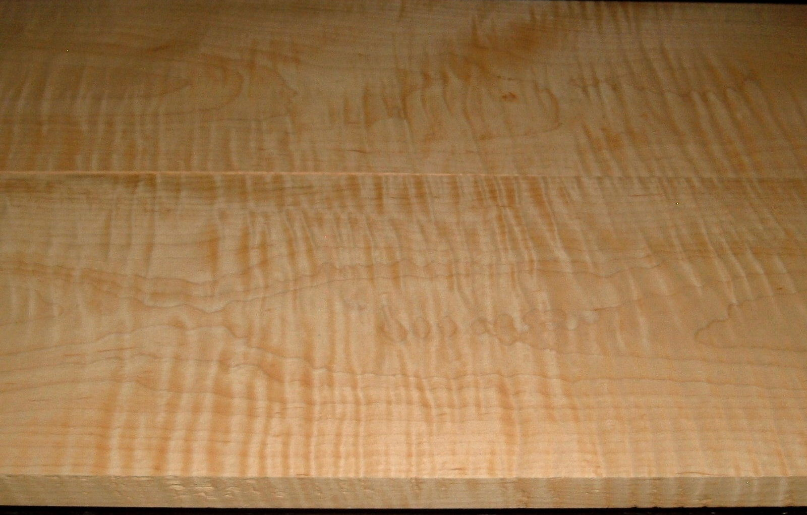 M2004-356, 2 Bd Set +7/8 x8-1/2x42, +15/16 x9x42, Curly Tiger Maple, Cut from same Plank