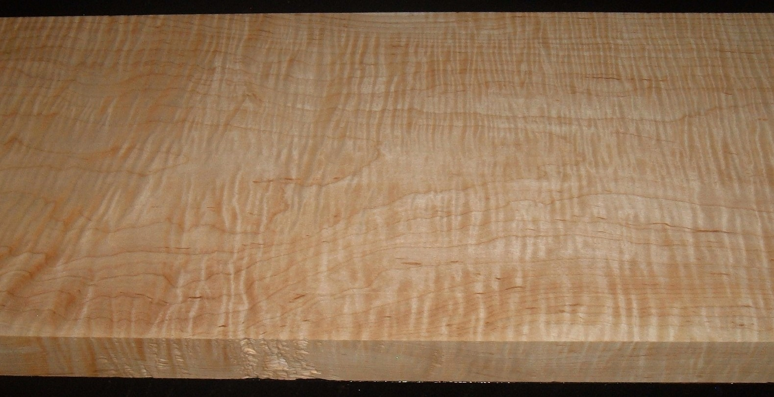 M2004-391JJ, 1-1/2x11-1/4x44, Curly Tiger Maple