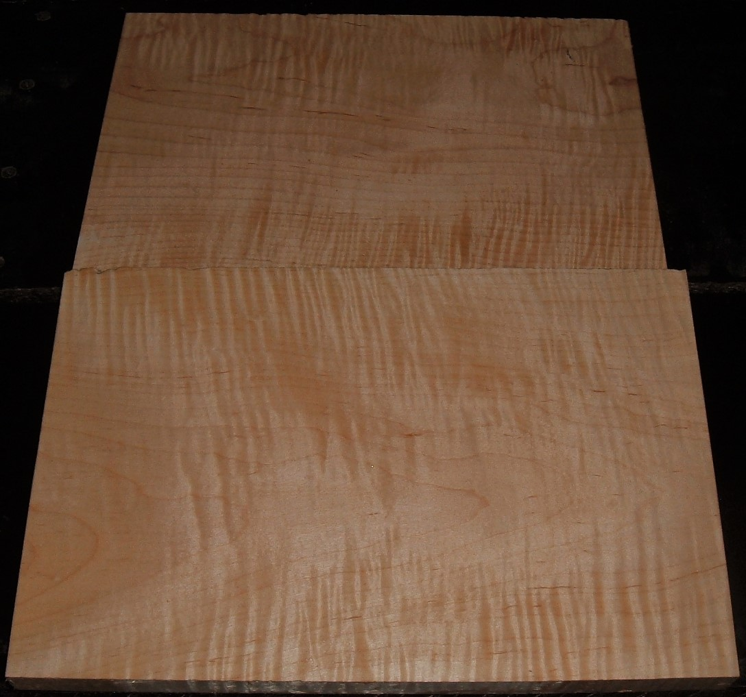 S-2312Y, 7/8+X8-7/8+X13, 5/8+X7-3/4X12, Curly Tiger Maple