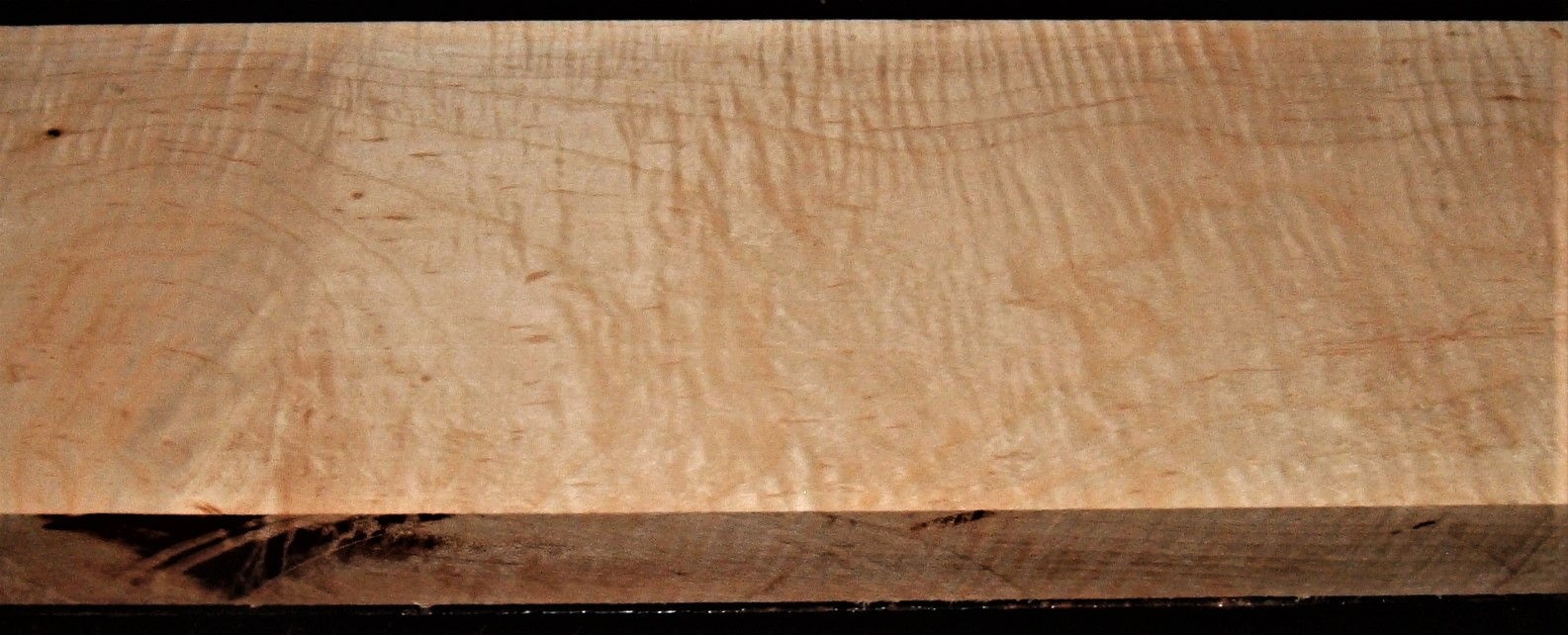 SMS-2638JJ, 1-15/16x6-3/8x26, Curly Tiger Soft Maple