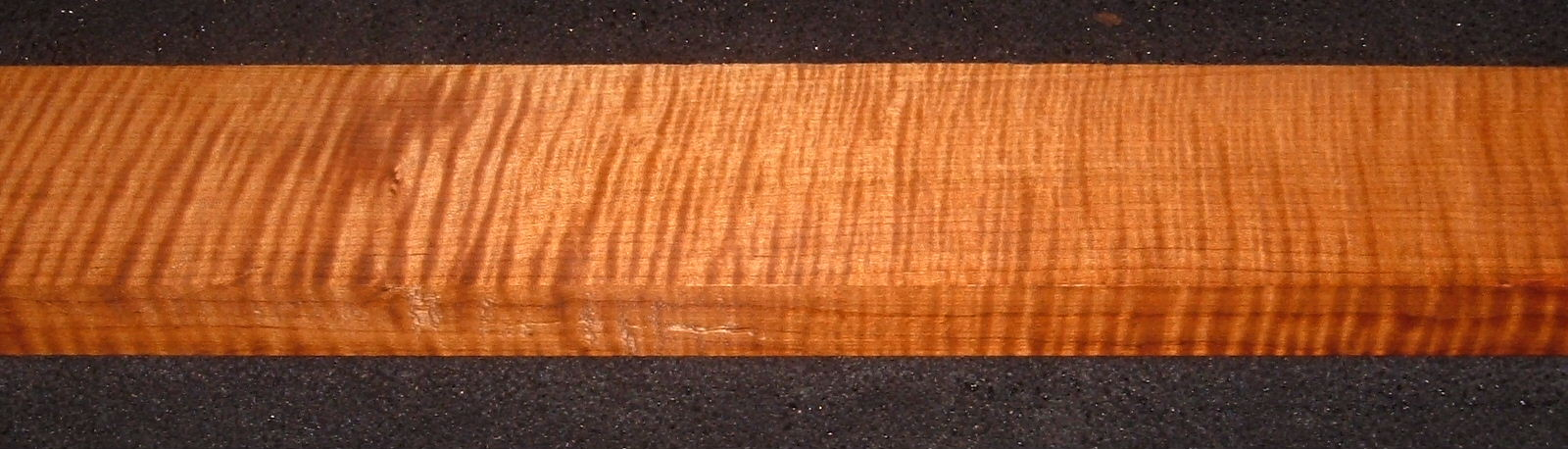 QRM2006-183, 15/16x3x46, Quartersawn Roasted Curly Maple