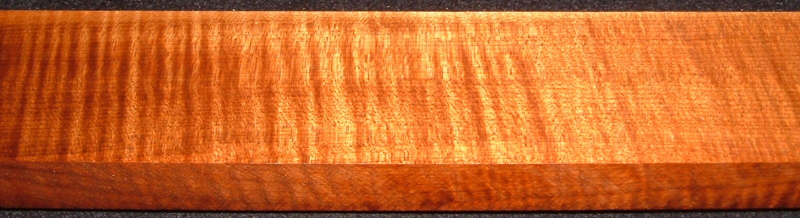 QRM2008-210, 1x2-1/2x45, Quartersawn Roasted Curly Maple