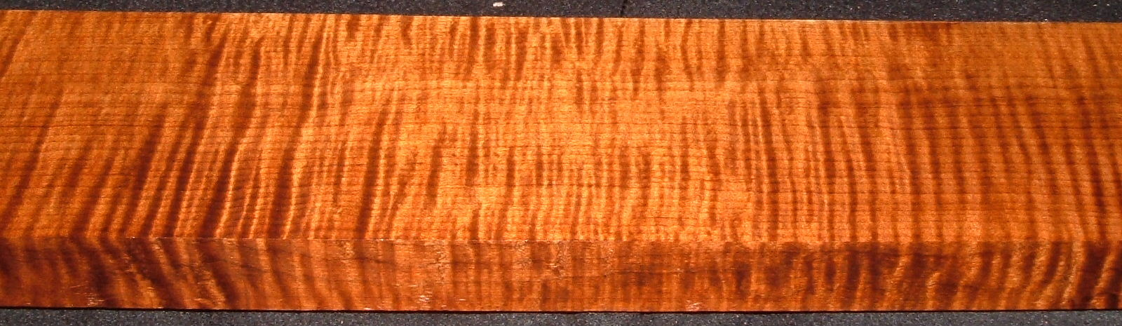 QRM2008-214, 1-3/16x3-5/8x45, Quartersawn Roasted Curly Maple