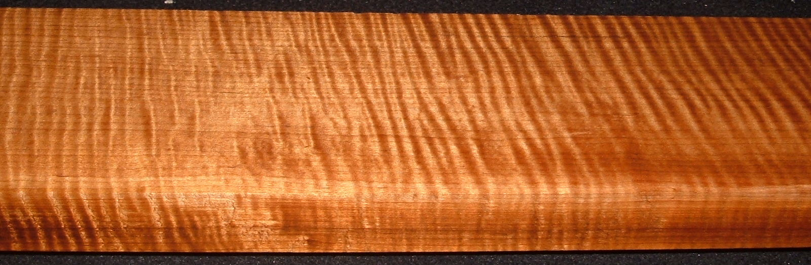 QRM2008-215, 1-1/8x3-5/8x45, Quartersawn Roasted Curly Maple