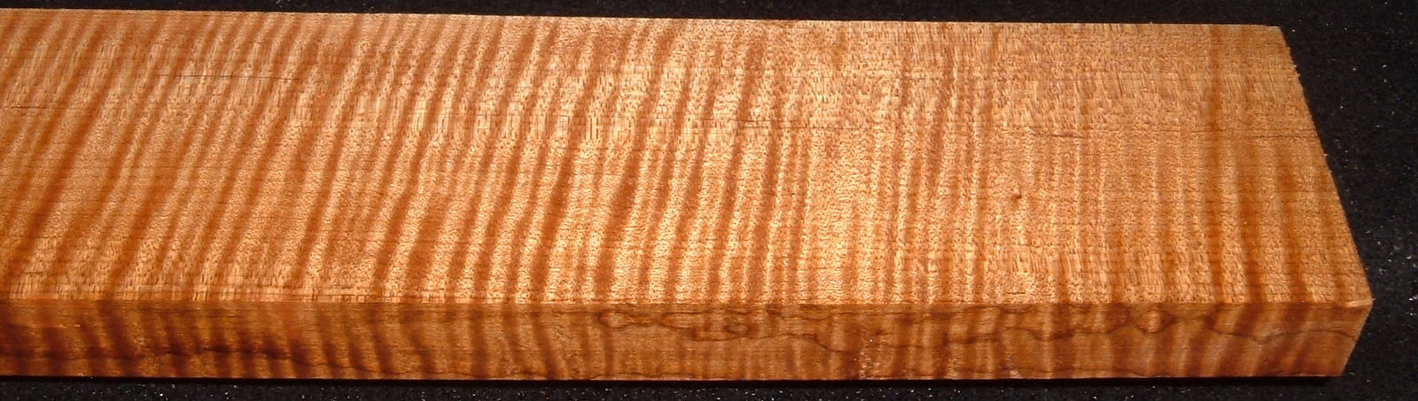 QRM2008-216, 1x3-1/8x44, Quartersawn Roasted Curly Maple