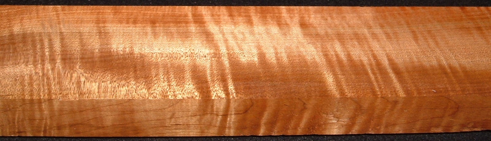QRM2008-218, 1-1/4x2-3/4x46, Quartersawn Roasted Curly Maple