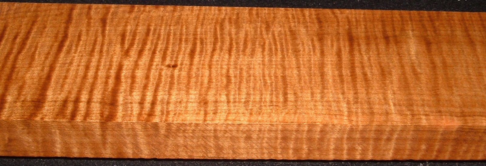 QRM2008-222, 1-1/8x3-1/2x46, Quartersawn Roasted Curly Maple