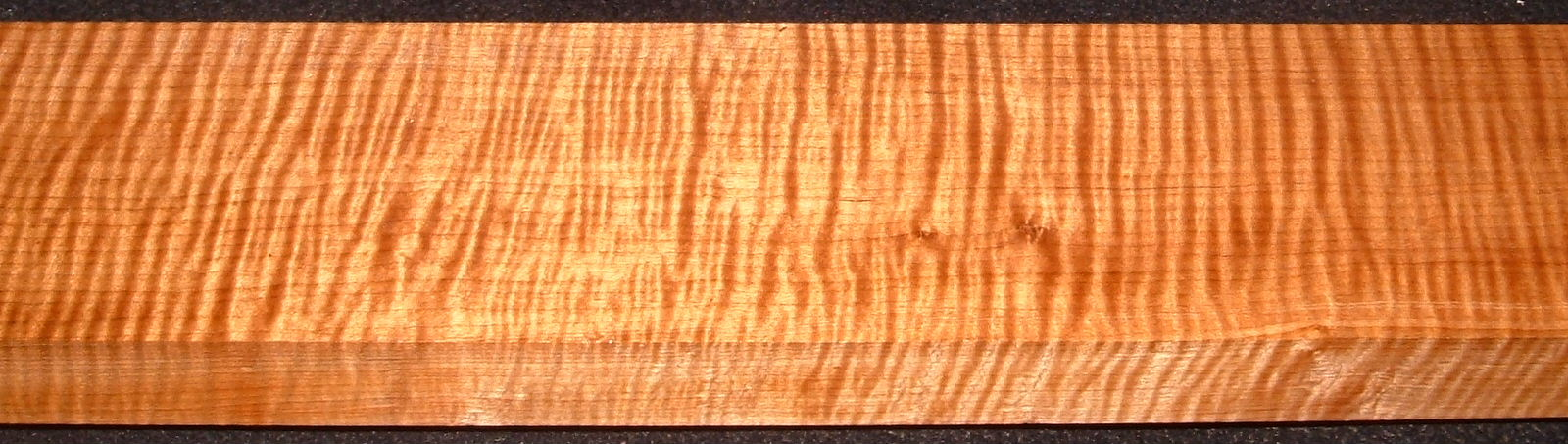QRM2008-230, 1-1/8x3-1/4x43, Quartersawn Roasted Curly Maple