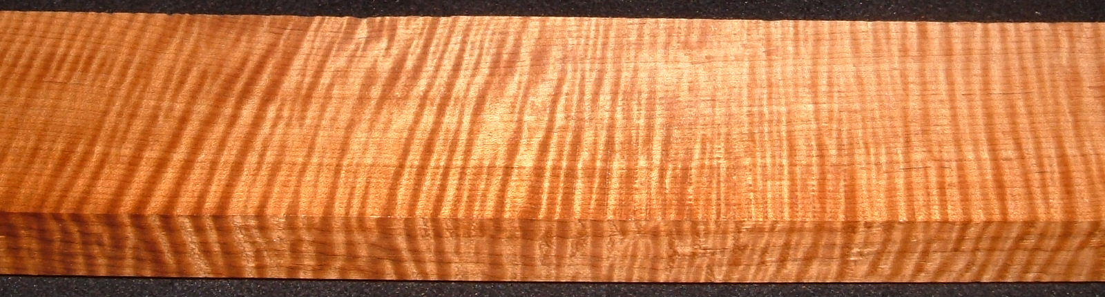 QRM2008-233, 1-1/8x2-7/8x44, Quartersawn Roasted Curly Maple