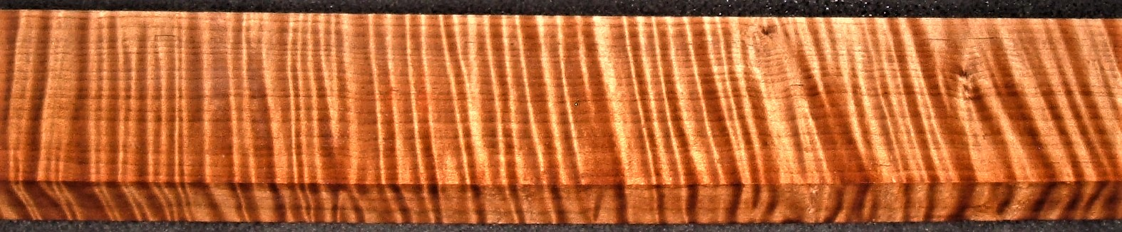 QRM2009-162JK, 1-1/8x3x48, Quartersawn Roasted Curly Maple