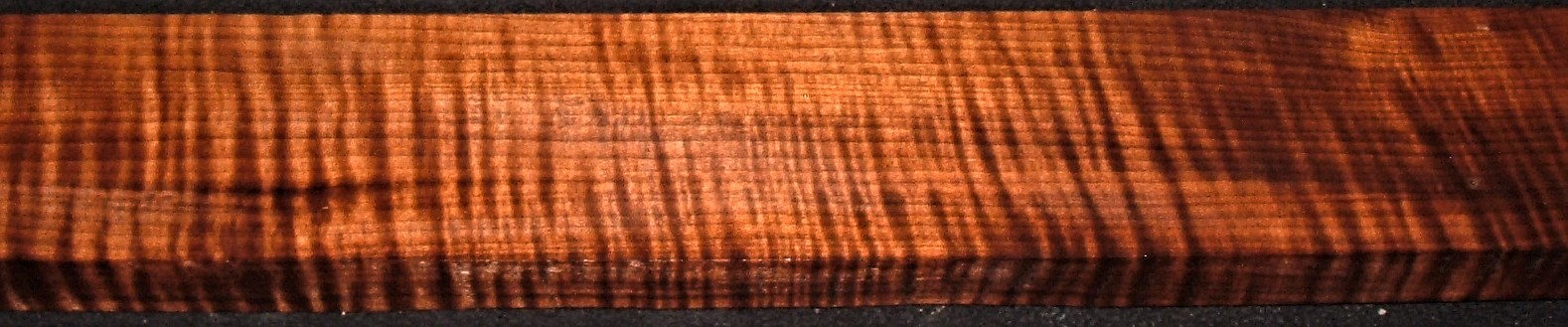 QRM2009-169JK, 1-1/4x4x48, Quartersawn Roasted Curly Maple
