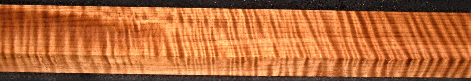 QRM2009-177JK, 1-3/16x2-1/2x44, Quartersawn Roasted Curly Maple